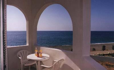 Apartment in Greece, Makri Gialos: Ikaros Villa balcony sea view
