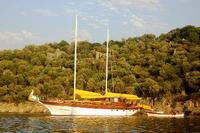 Boat in Turkey, Marmaris: One of the many beautiful bays