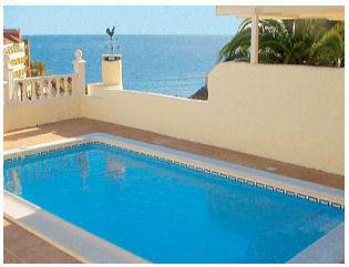 Villa in Spain, Adeje: Sea views from the pool area