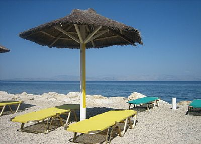 Apartment in Greece, Benitses: nearest beach