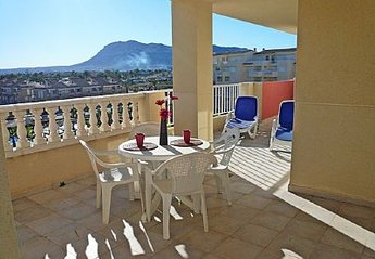 Apartment in Spain, Marines: Balcony overlooking the pool
