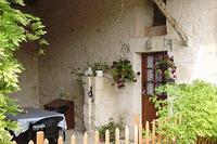Farm_house in France, Bergerac: Private covered terrace and entrance to the gite