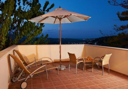 Villa in Maheri, Crete: VILLA ERONTAS - veranda with amazing view