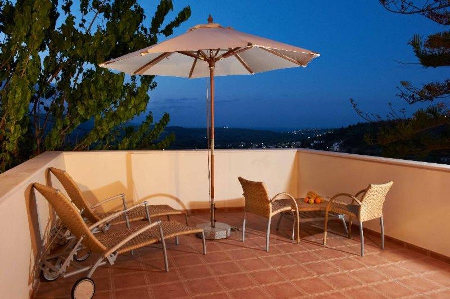 Villa in Greece, Maheri: VILLA ERONTAS - veranda with amazing view