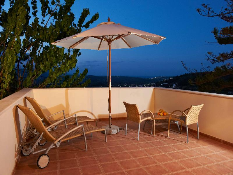 Villa in Greece, Maheri: VILLA ERONTAS - veranda with amazing view