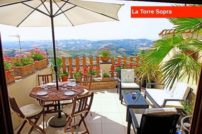 La Torre Sopra - Apartment with Large Panoramic Roof Terrace