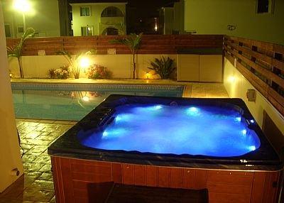 Villa in Cyprus, Pernera: JACUZZI AT NIGHT