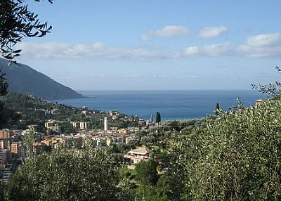 Villa in Italy, Recco: view from the villa