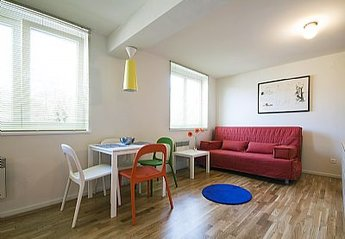 Apartment in Slovenia, Ljubljana Centre: Dining/Living Room [photo by www.dusanzidar.com]