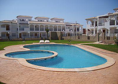 Apartment in Spain, Los Balcones: view of pool