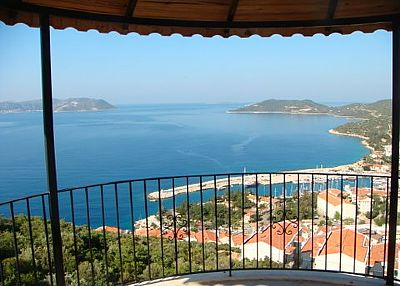 Penthouse apartment in Turkey, Kas: view from the terrace