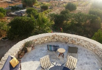 Villa in Greece, Piso Livadi: Sandy beach just 3 minute walk directly below villa.