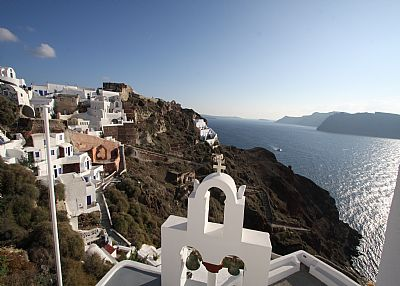 Villa in Greece, Oia: view from mu amazing house