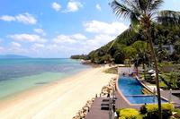 Villa in Thailand, Bang Por: Secluded beach and resort pool are just a minute's walk away
