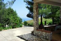 Villa in Italy, Scopello: Veranda with Sea view. House surrounded by nature.