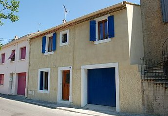Village House in France, Capestang: Front View of our house