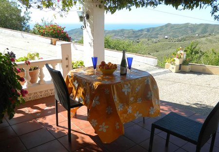 Villa in Iznate, Spain: view to Mediterranean from Patio
