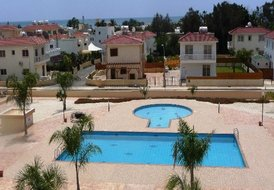 Apartment in Nissi Beach, Cyprus: sea and pool view