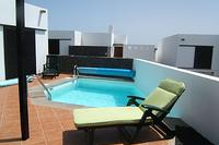 Villa in Spain, Playa Blanca: Palazuelos terrace and pool