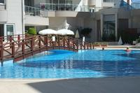 Apartment in Turkey, Side: The main pool - large enough to swim in as well as to relax.