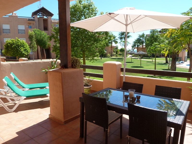Apartment in Spain, Casares Costa: Relax on the large south facing terrace overlooking the pool & ..