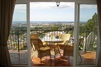 House in Spain, Mijas Pueblo: fabulous view from the sunny  balcony