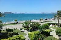 Apartment in Turkey, Calis Beach: Sea and beach view from front living room balcony