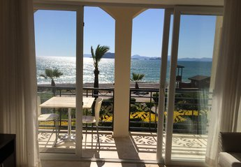 Apartment in Turkey, Calis Beach: A7 views from inside living room looking out to balcony