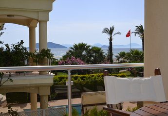 Villa in Turkey, Calis Beach: Stunning beach, sea and islands view from Coral 4 villa