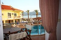 Apartment in Turkey, Calis Beach: Sea and pool view from Dolphin aprt living room