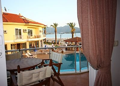 Apartment in Turkey, Calis: Sea and pool view from Dolphin aprt living room