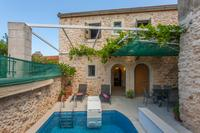 Village_house in Greece, Prines: Exterior view from pool-side.