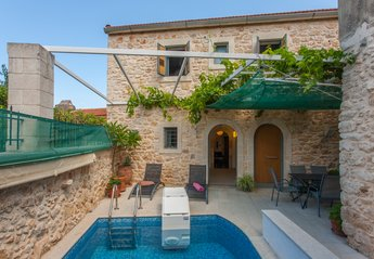 Village House in Greece, Prines: Exterior view from pool-side.