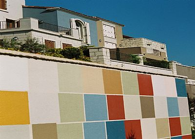 House in Turkey, Alacati: Blue House (front side)