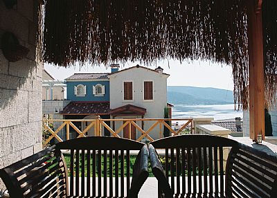 House in Turkey, Alacati: Blue House (back side and entrance)