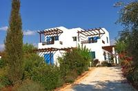 Villa in Cyprus, Sea Caves: Villa Ilios front elevation and driveway