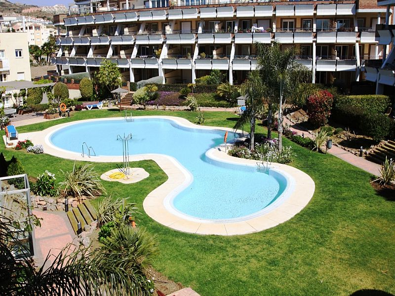 Apartment in Spain, Miraflores: Large communal pool set in attractive gardens