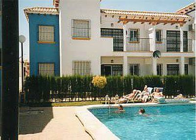 Apartment in Spain, La Zenia: Rear of apartment and pool