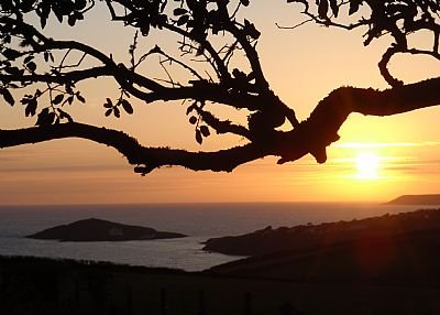 Lodge in United Kingdom, Thurlestone: Sunset view from lodge.