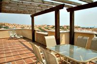 Penthouse_apartment in Spain, Riviera del Sol: Dining on the Massive Wrap Around Penthouse Balcony