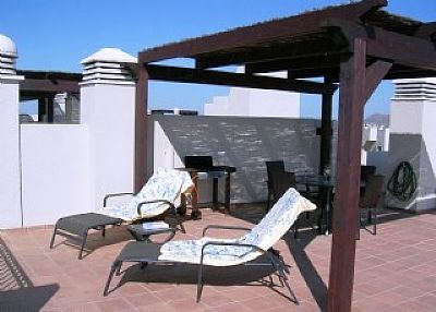 Penthouse apartment in Spain, Roda Golf and Beach Club: sun on the terrace