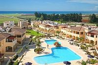 House in Cyprus, Mandria: sea view of resort