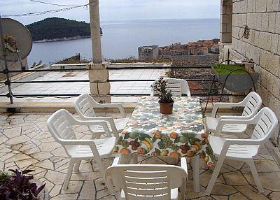 Studio apartment in Croatia, Iznad starog grada: East terrace Sea View