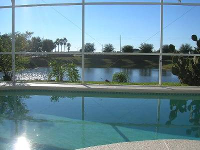 Villa in USA, The Palms: Pool Terrace with Excellent Lake View