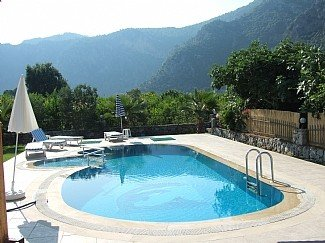 Villa in Turkey, Ortaca: The pool area.
