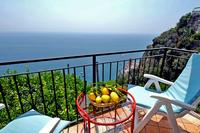 Apartment in Italy, Ravello: Il Postino balcony with sea view