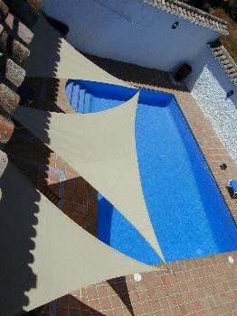Village house in Spain, Cozvijar: Patio, sun, shade and the pool
