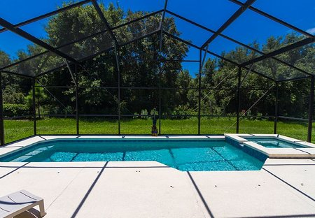 Villa in Highgate Park, Florida: Villa Pool with woodland view