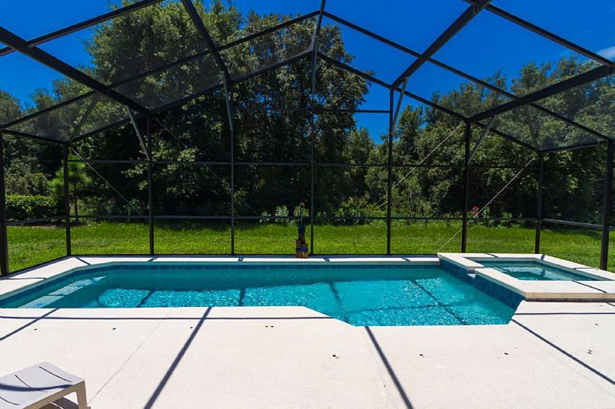 Villa in USA, Highgate Park: Villa Pool with woodland view