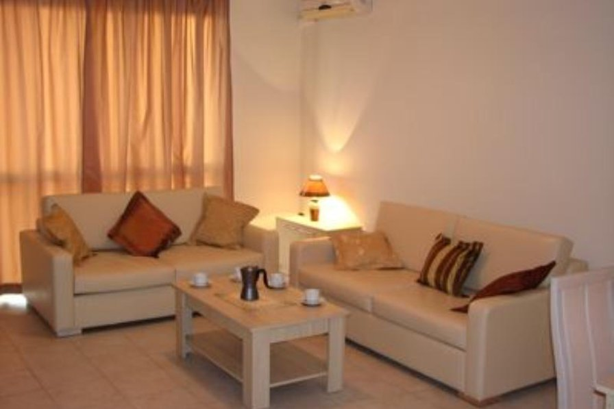 Apartment in Bulgaria, Nesebar: Leather sofa and sofabed equipped with DVD